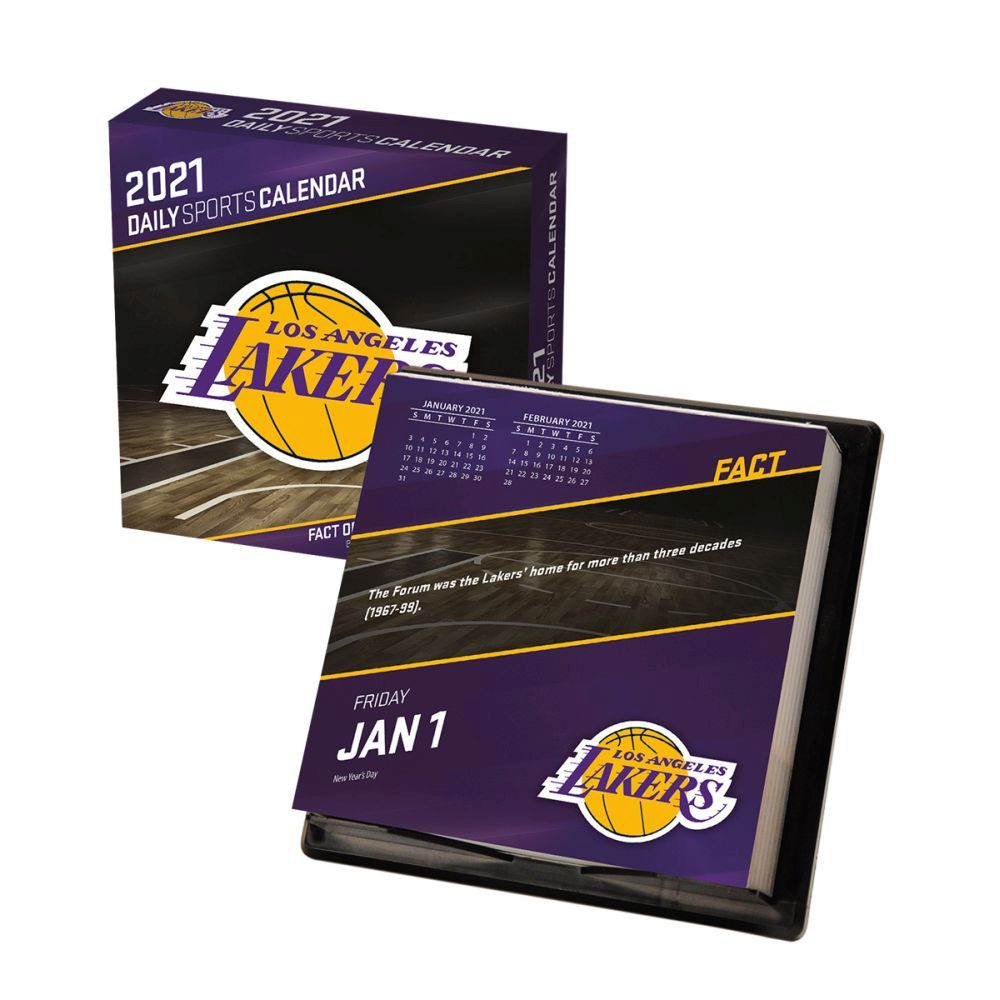2021 Los Angeles Lakers Desk Calendar