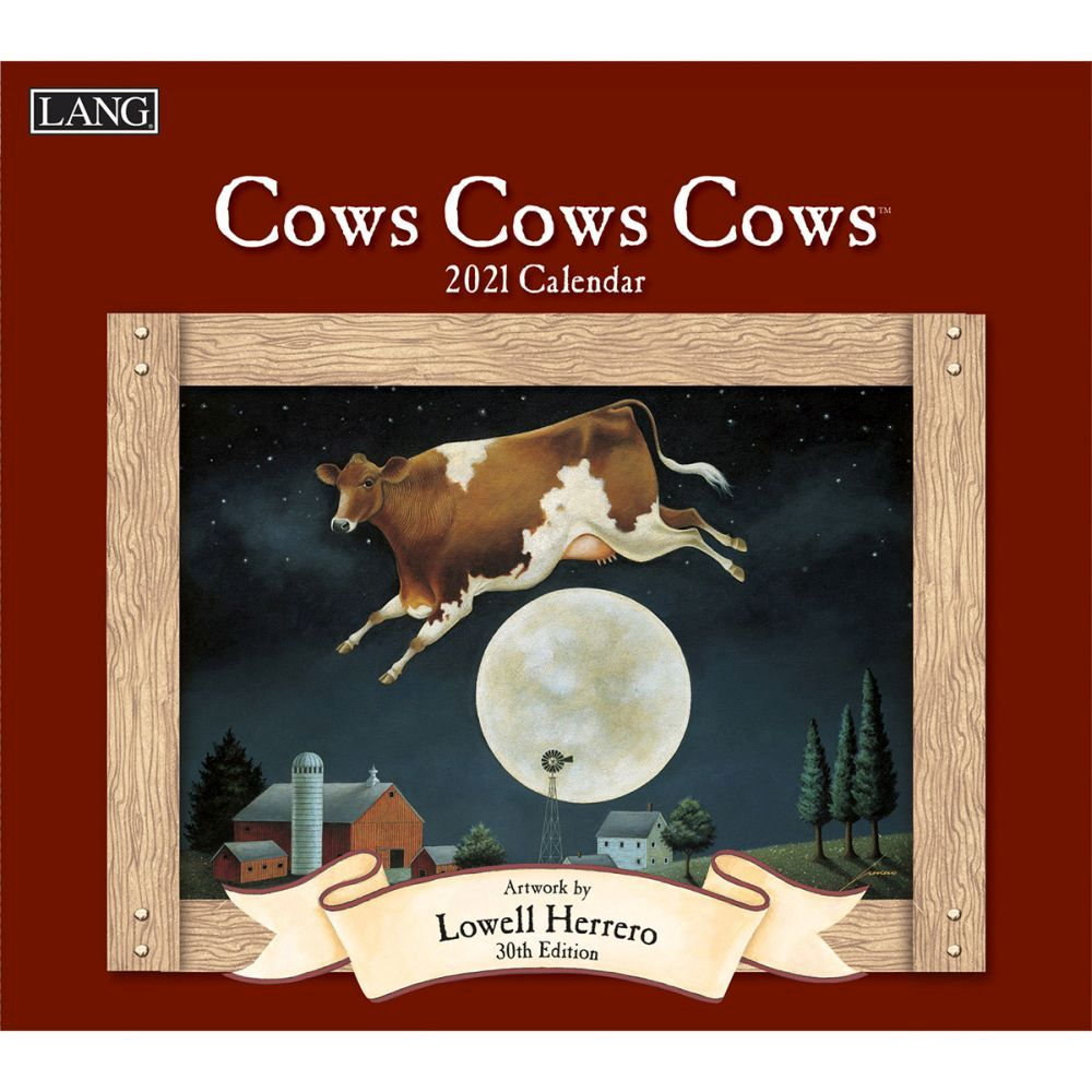 2021 Cows Cows Cows Wall Calendar by Lowell Herrero