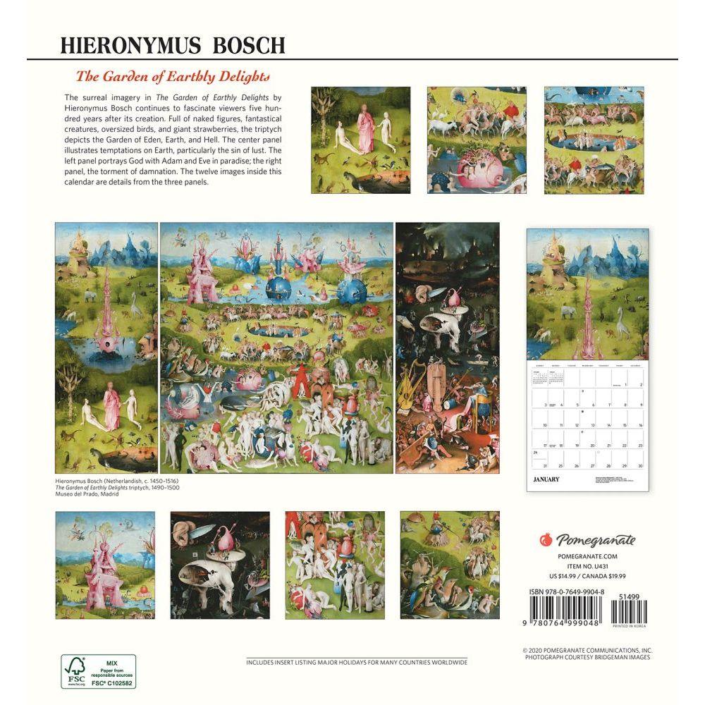 Bosch Garden of Earthly Delights Wall Calendar - Calendars.comBosch Garden Of Earthly Delights Outside