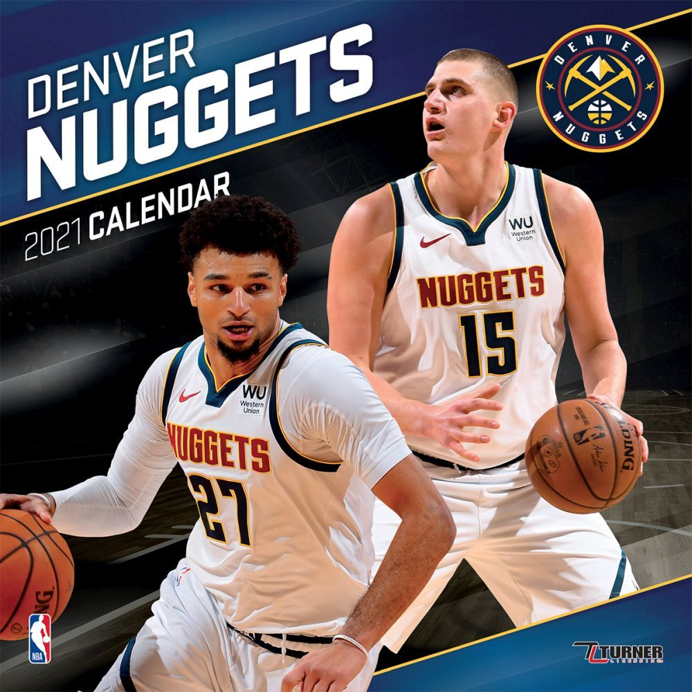 2021 Denver Nuggets Team Wall Calendar