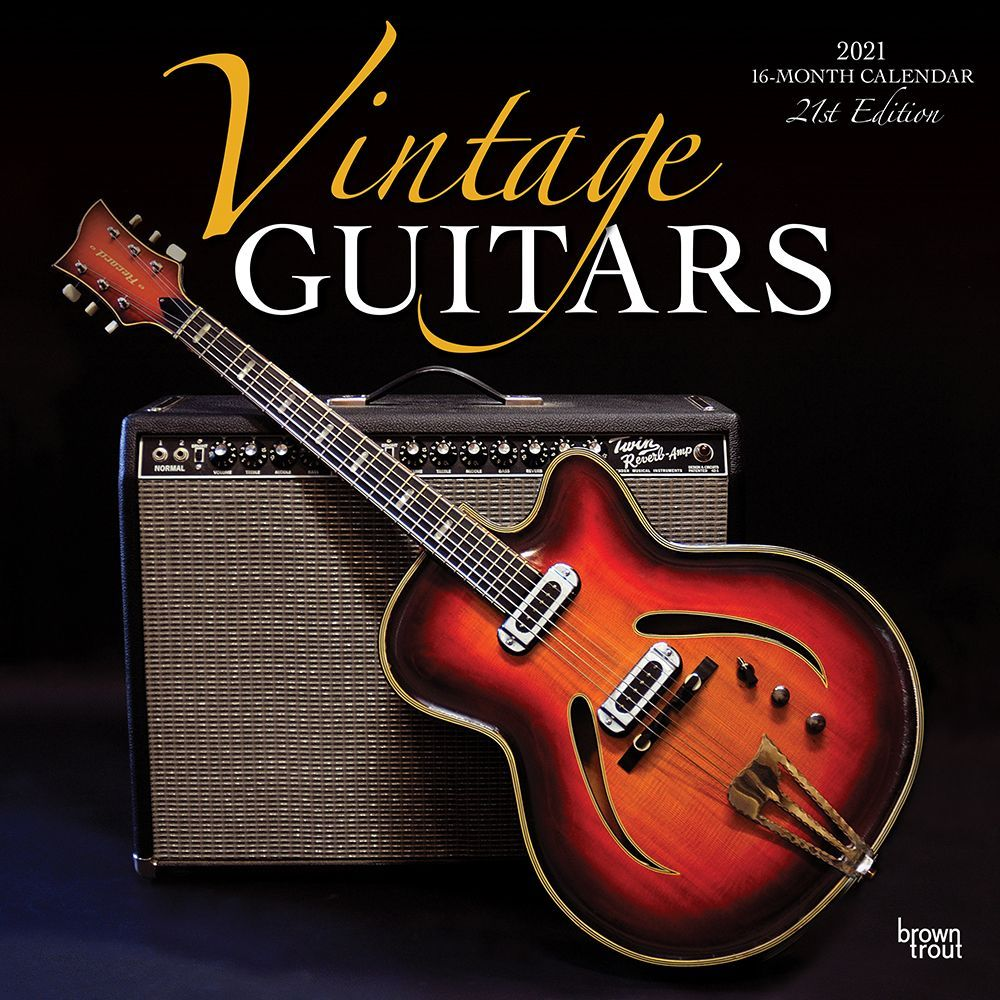 2021 Guitars Vintage Wall Calendar