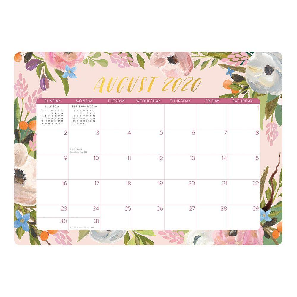 2021 Bella Flora Decorative Desk Calendar