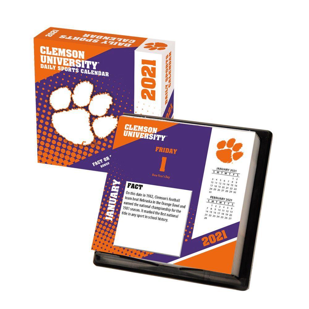 2021 Clemson Tigers Desk Calendar