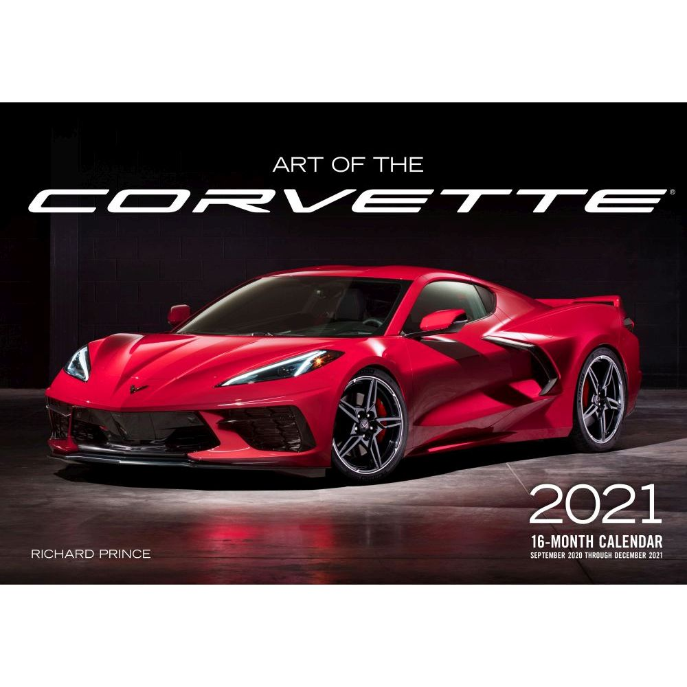 2021 Art of Corvette Large Wall Calendar