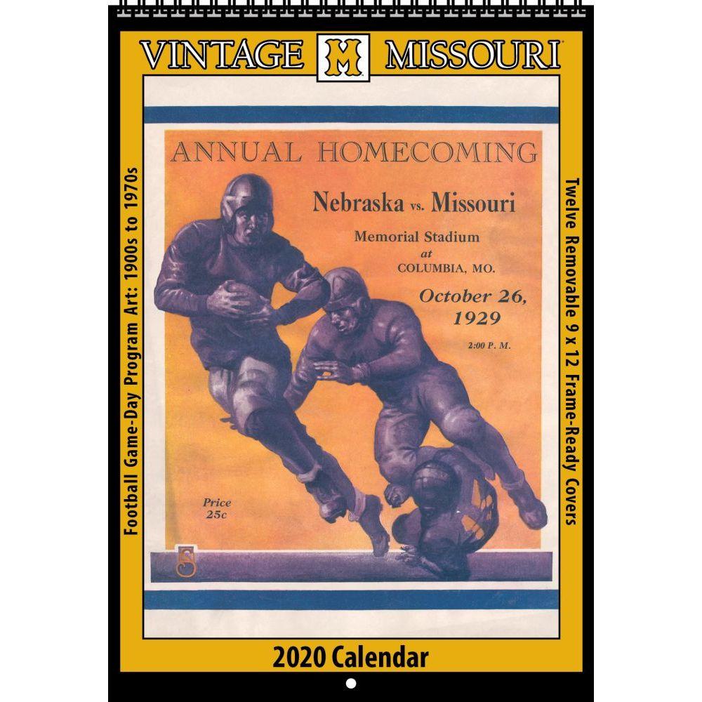 Vintage Missouri Tigers Football 2021 Poster Calendar