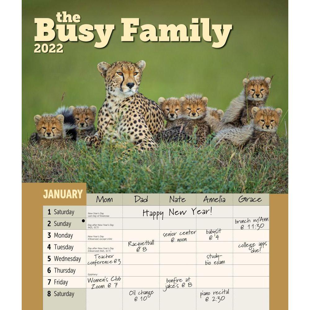 Busy Family 2022 Wall Calendar