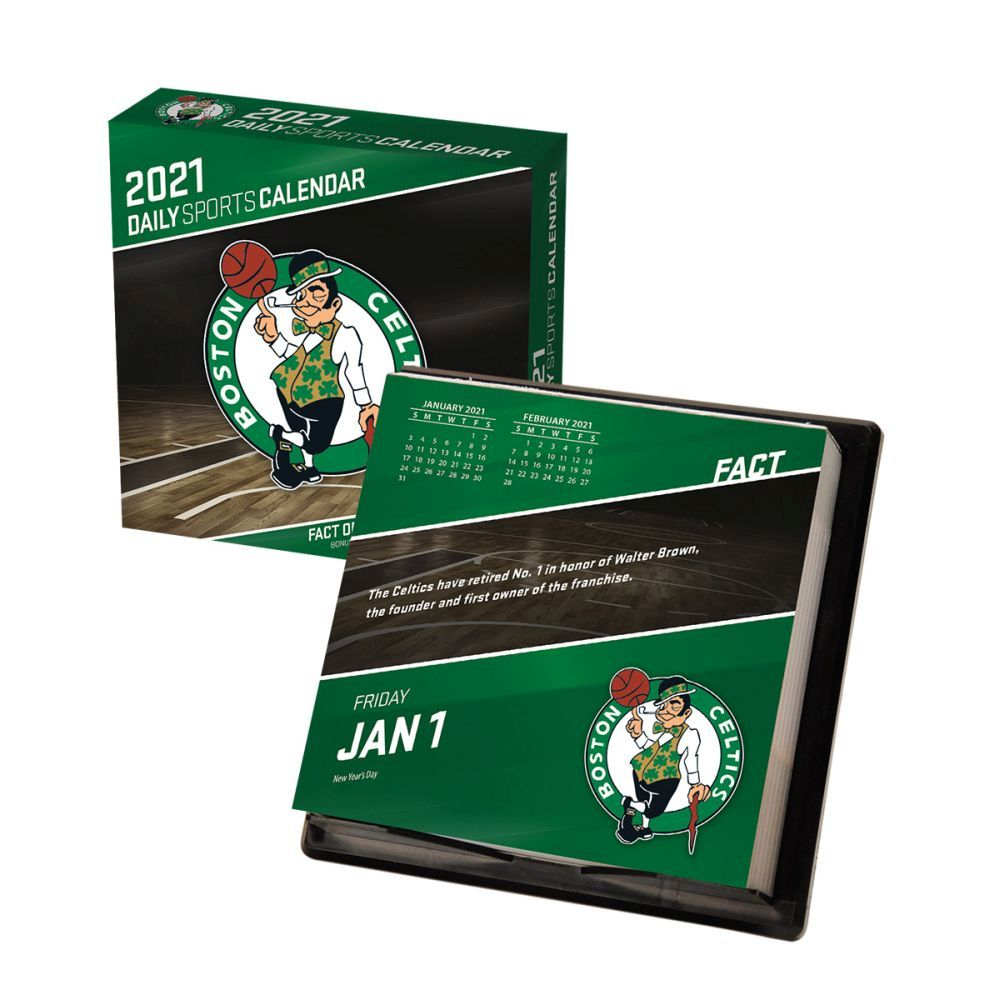2021 Boston Celtics Desk Calendar
