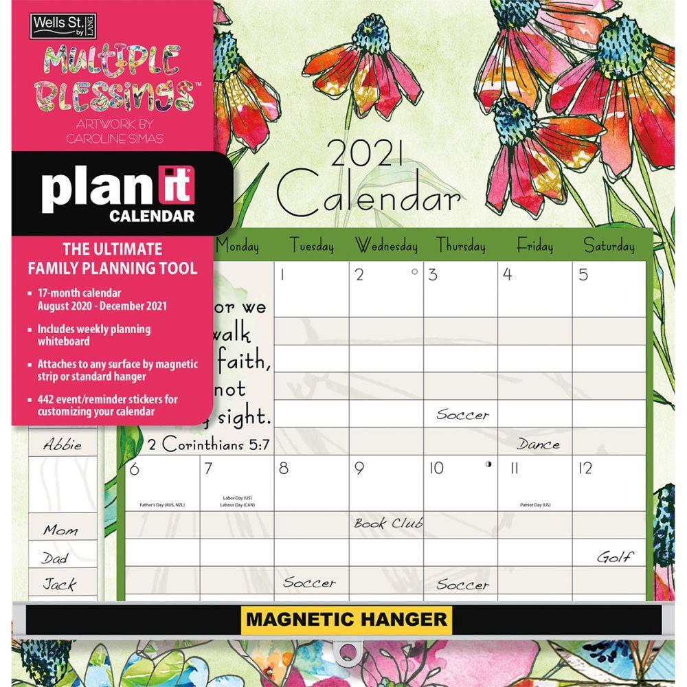 2021 Multiple Blessings Plan It Plus Wall Calendar by Caroline Simas