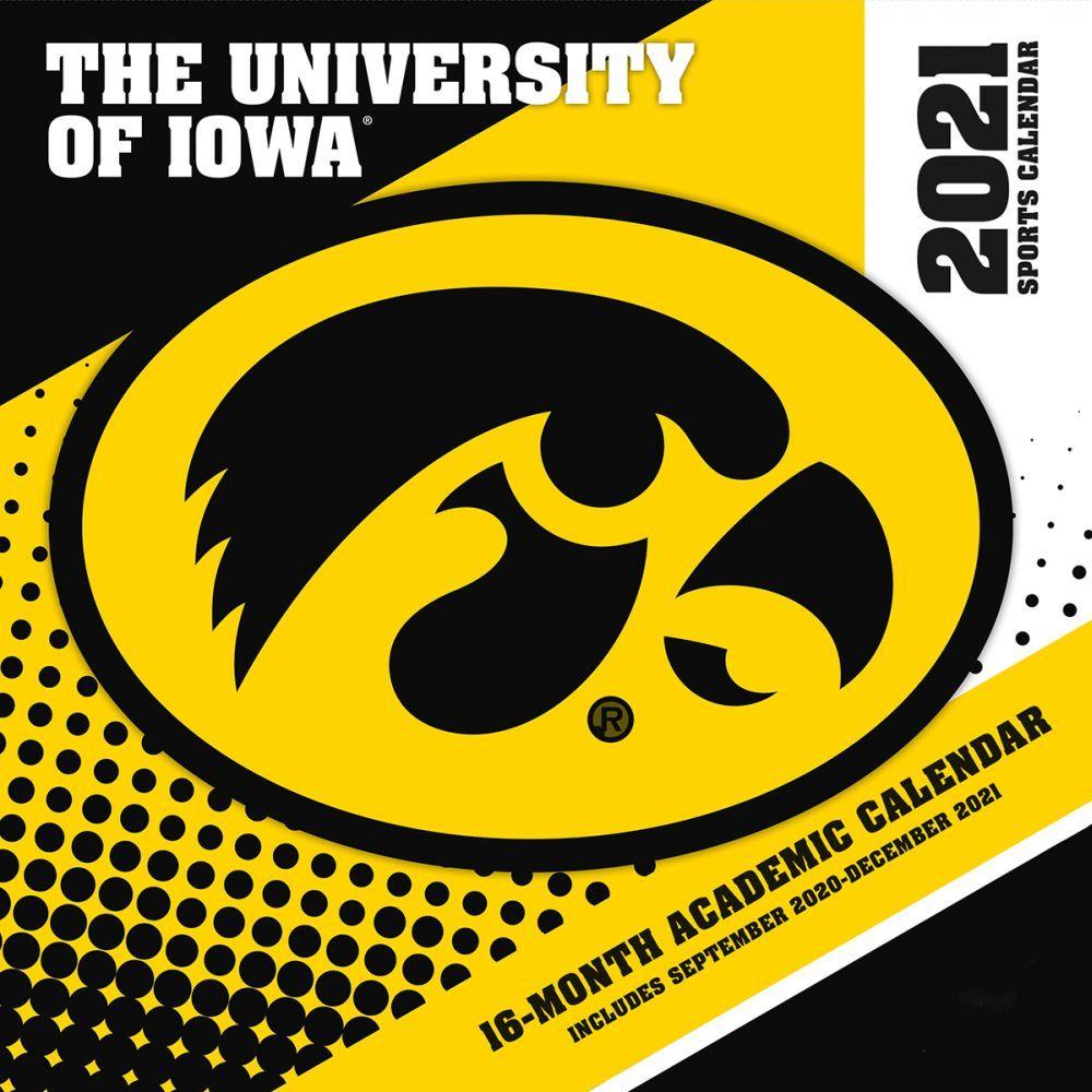 University of Iowa Hawkeyes 2021 Wall Calendar