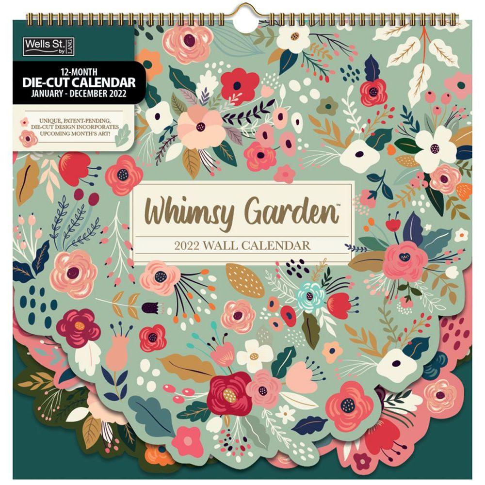 Whimsy Garden 2022 DieCut Spiral Calendar