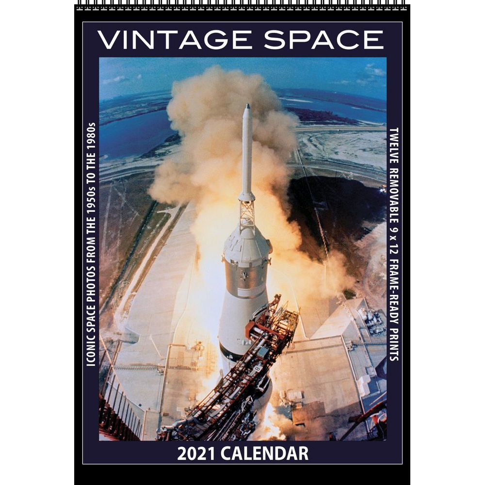 2021 Space Vintage Poster Wall Calendar