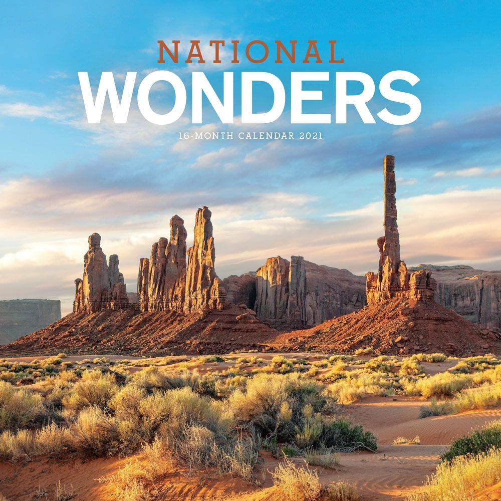2021 National Wonders Wall Calendar