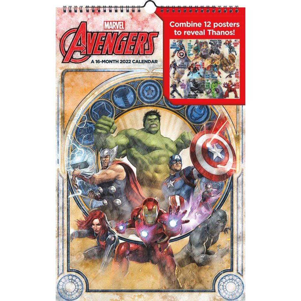 Marvel Avengers 2022 Poster Wall Calendar