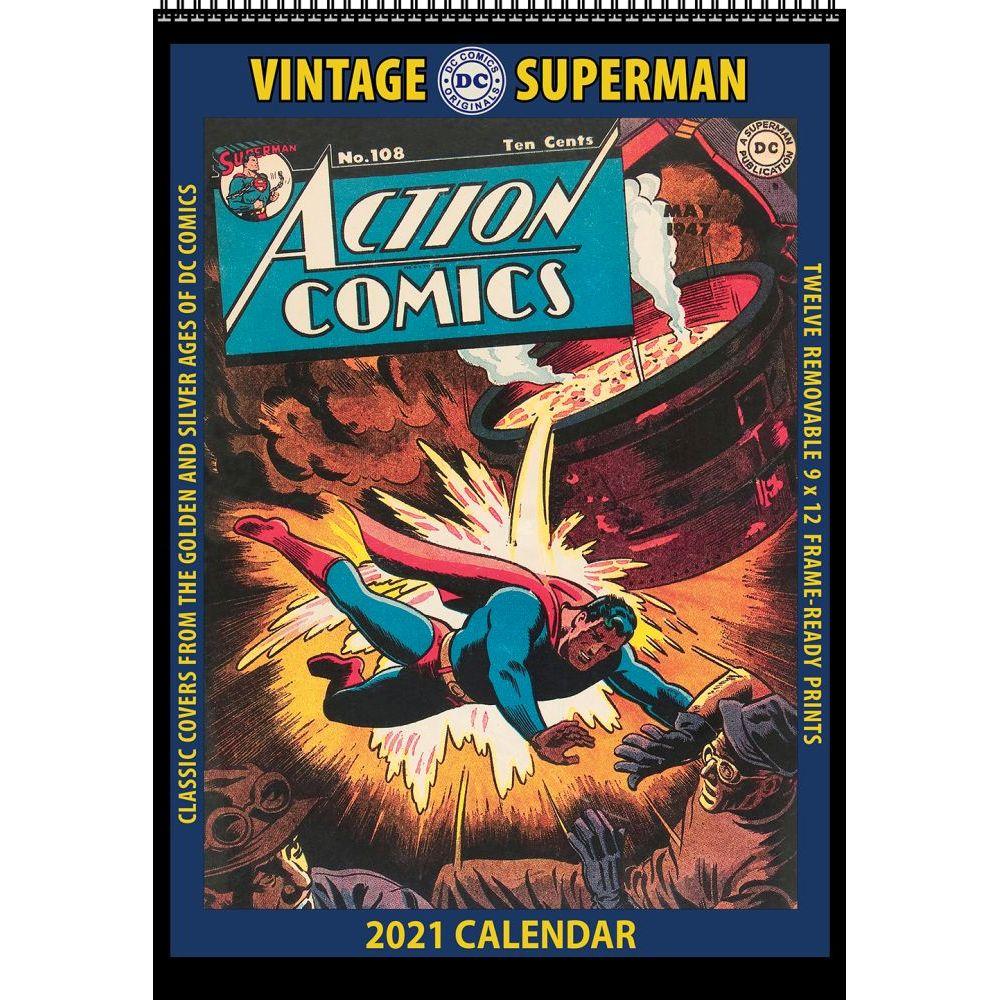 2021 Superman Vintage Poster Wall Calendar