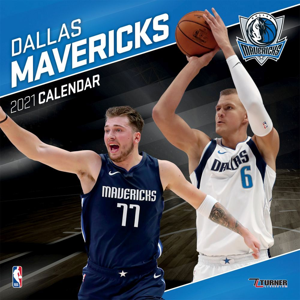 2021 Dallas Mavericks Team Wall Calendar