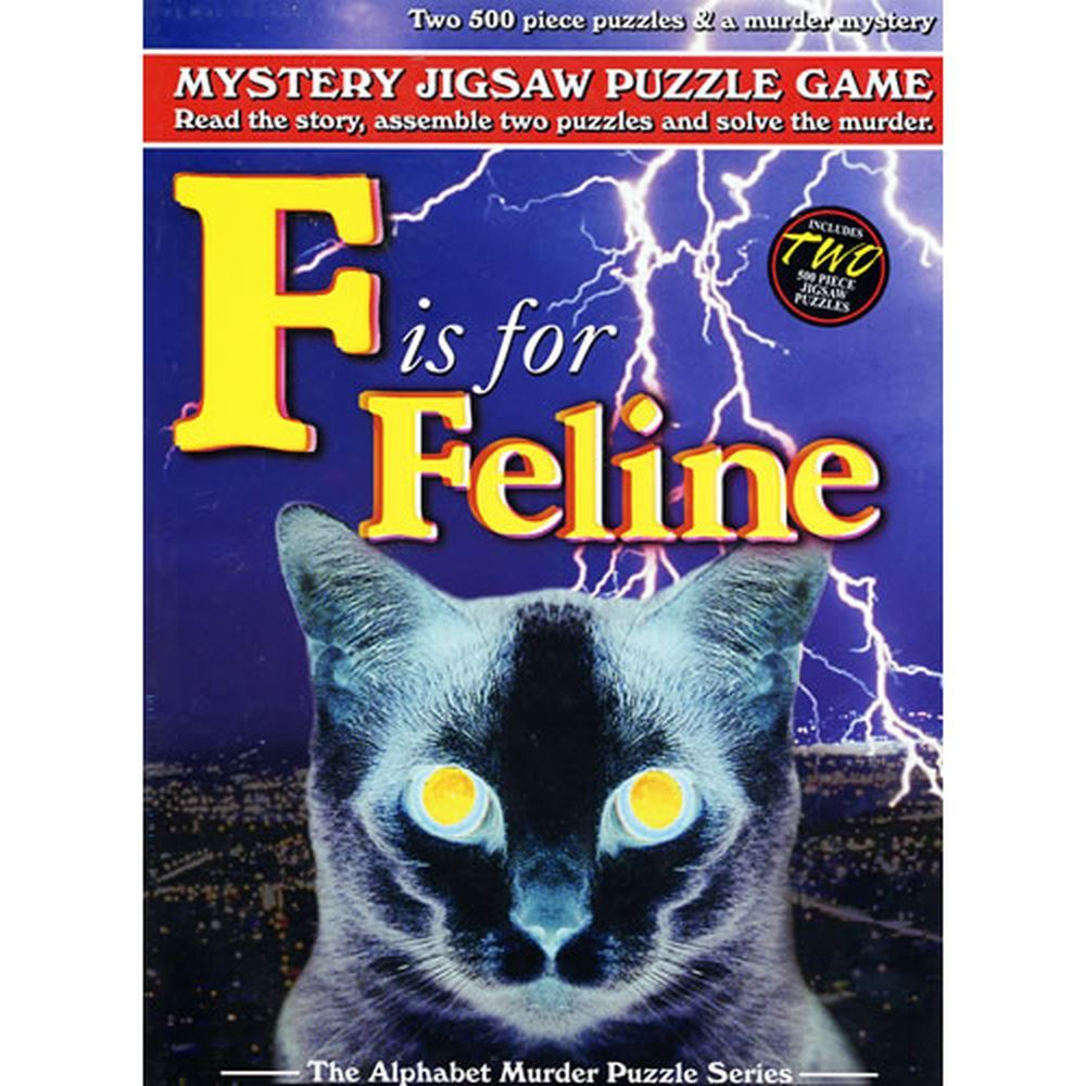 Best F is for Feline Mystery 500 Piece Puzzle You Can Buy