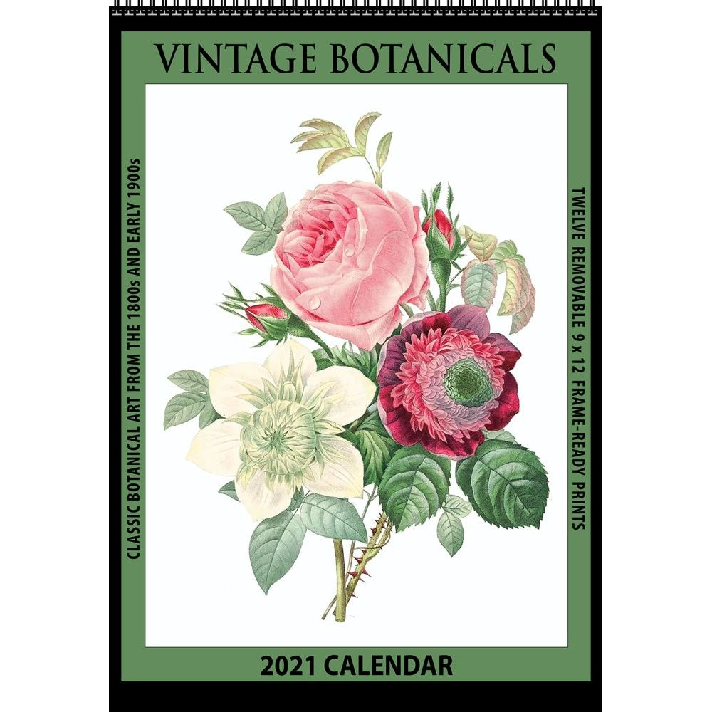 2021 Botanical Vintage Poster Wall Calendar