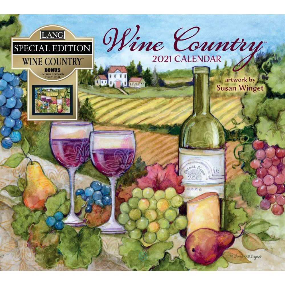 Wine Country Special Edition 2021 Wall Calendar