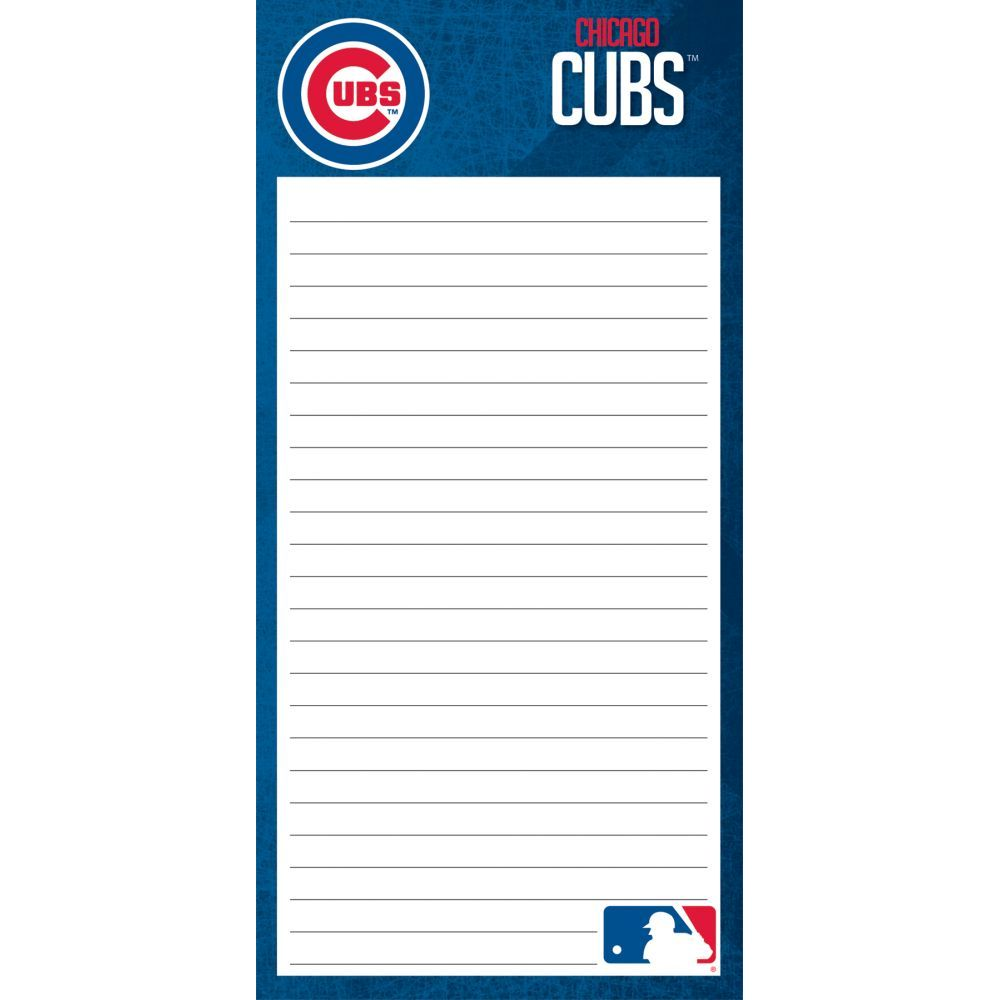 Mlb-Chicago-Cubs-2pack-List-Pad