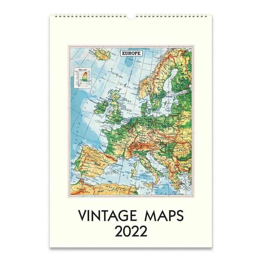 Vintage Maps Art 2022 Poster Wall Calendar
