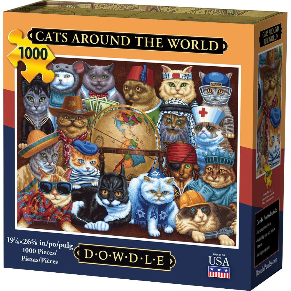 Best Cats Around the World 1000pc Puzzle You Can Buy