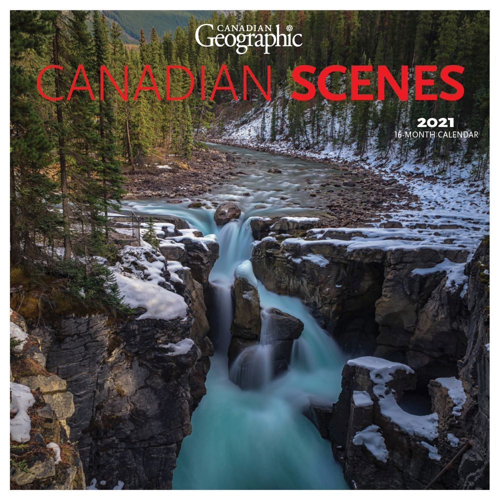 2021 Canadian Geographic Canadian Scenes Wall Calendar
