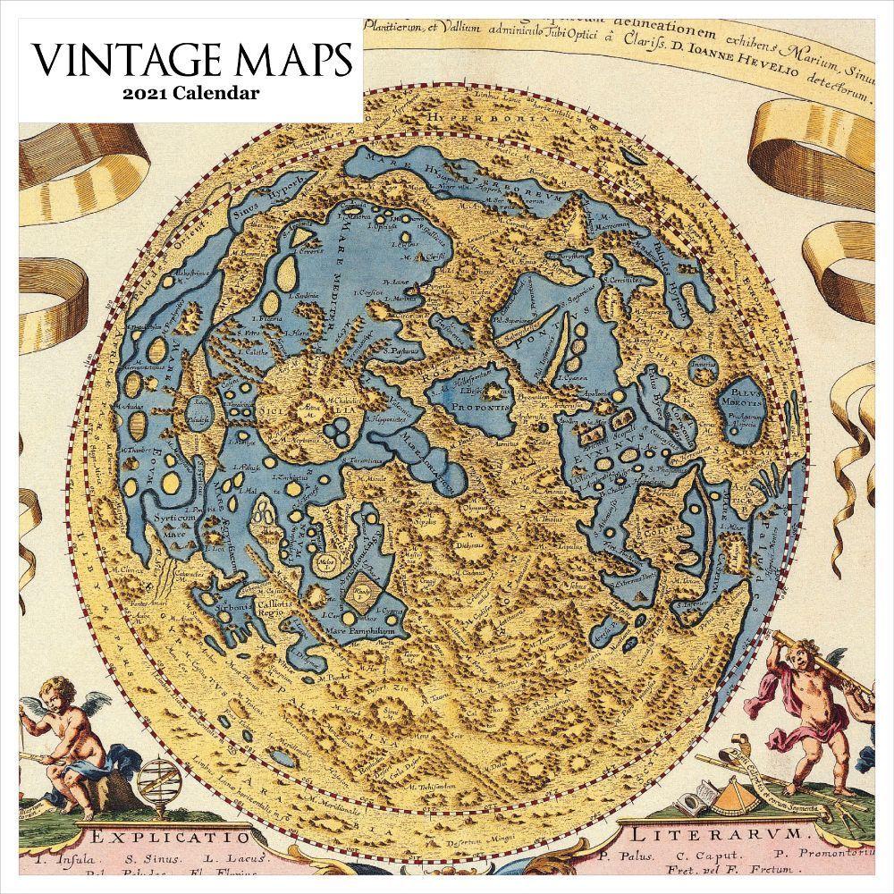 2021 Vintage Maps Wall Calendar