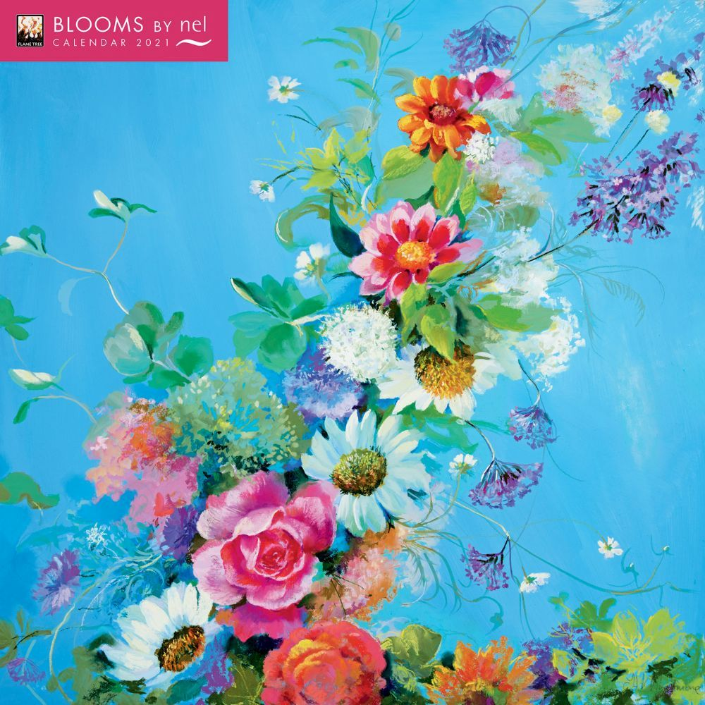 2021 Blooms by Nel Wall Calendar