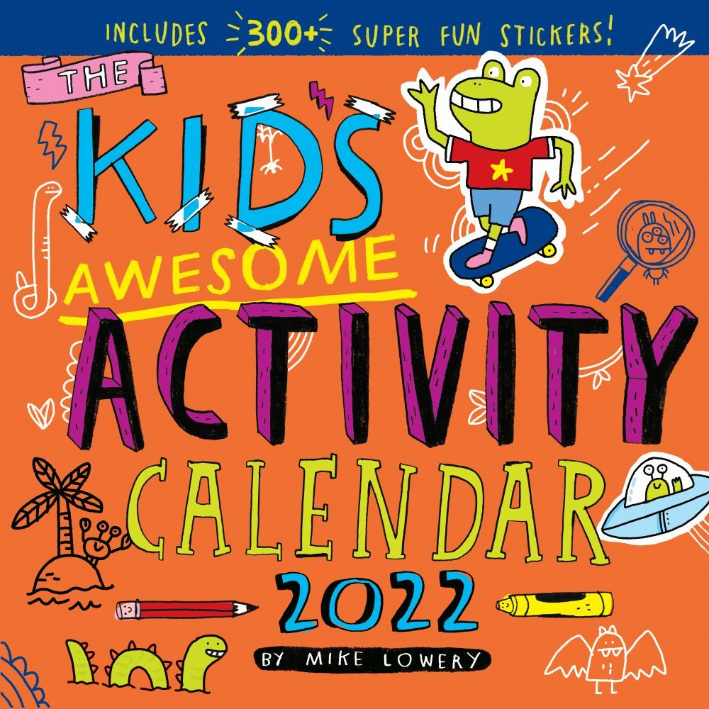 Kids Awesome Activity 2022 Wall Calendar