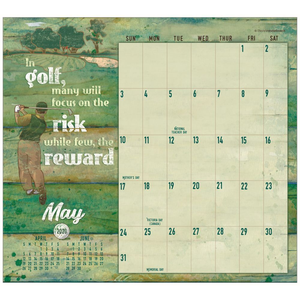 Golf Its More Than Just A Game 2021 Magnetic Calendar