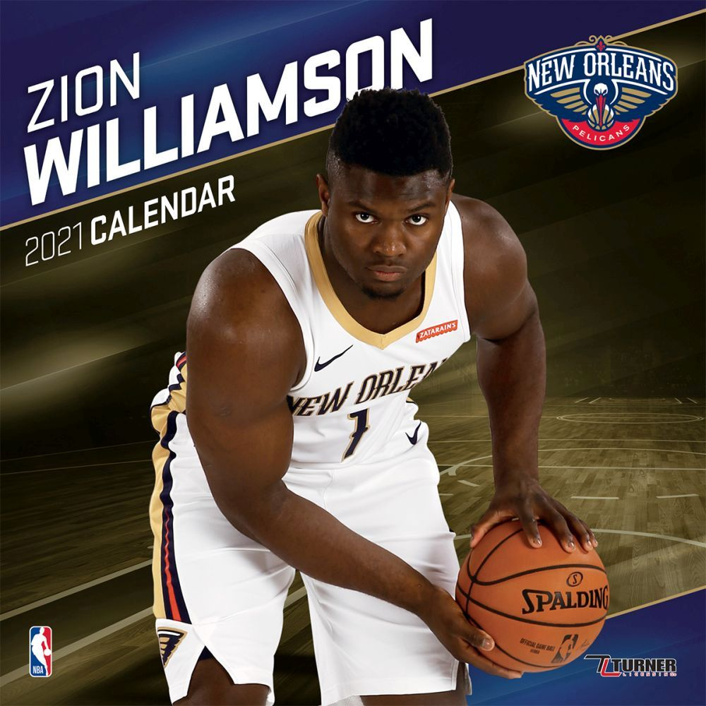 2021 NBA Zion Williamson Pelicans Wall Calendar