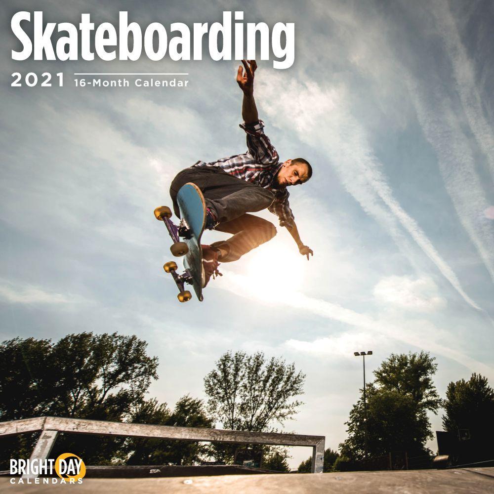 2021 Skateboarding Wall Calendar