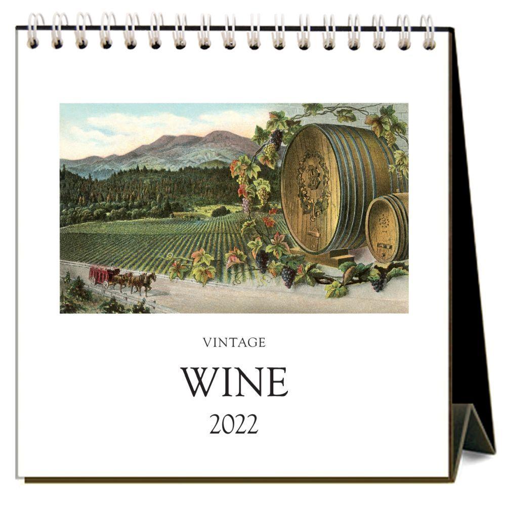 Vintage Wine 2022 Easel Desk Calendar