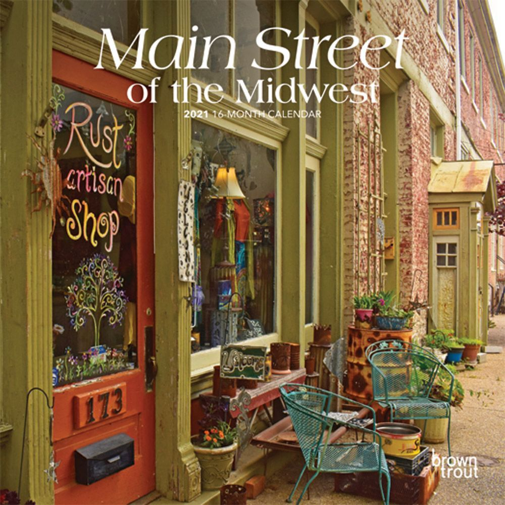 Main Street of the Midwest 2021 Mini Wall Calendar