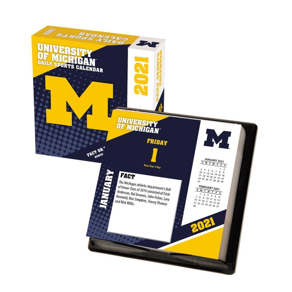 2021 Michigan Wolverines Desk Calendar