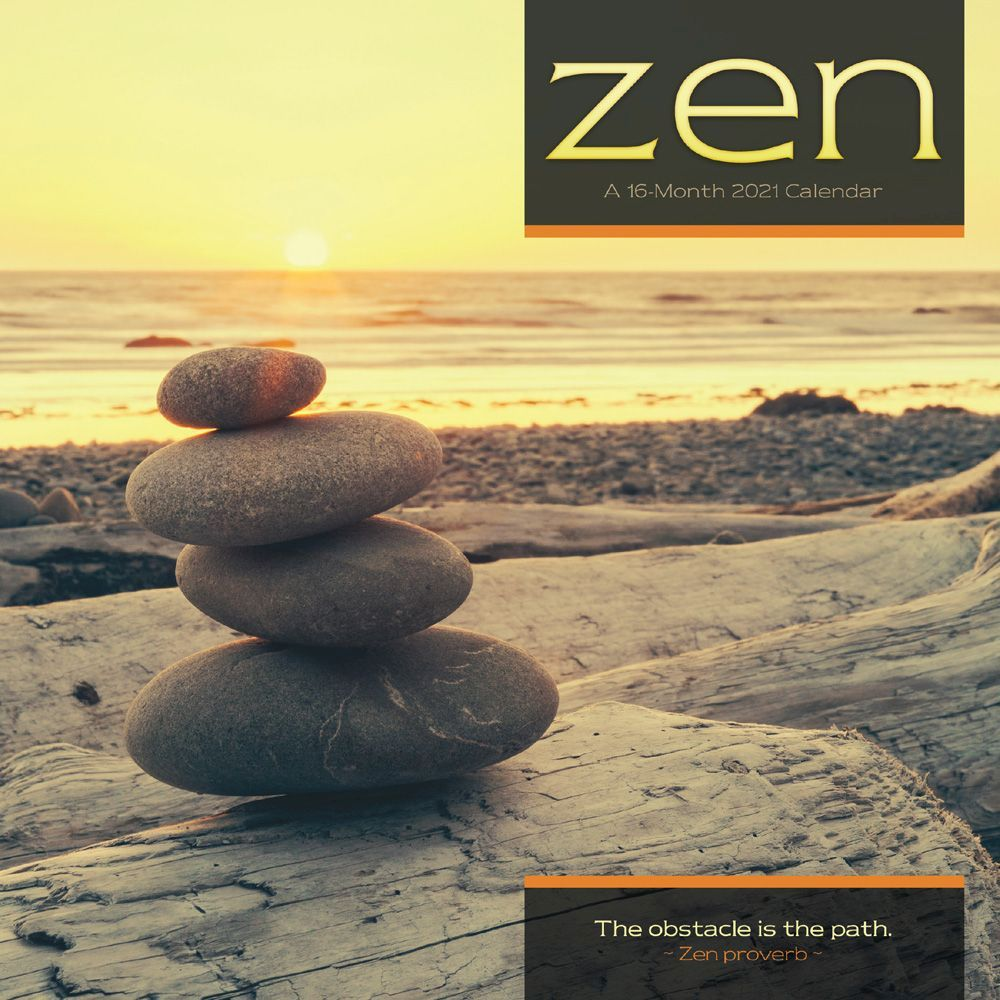 2021 Zen Mini Wall Calendar