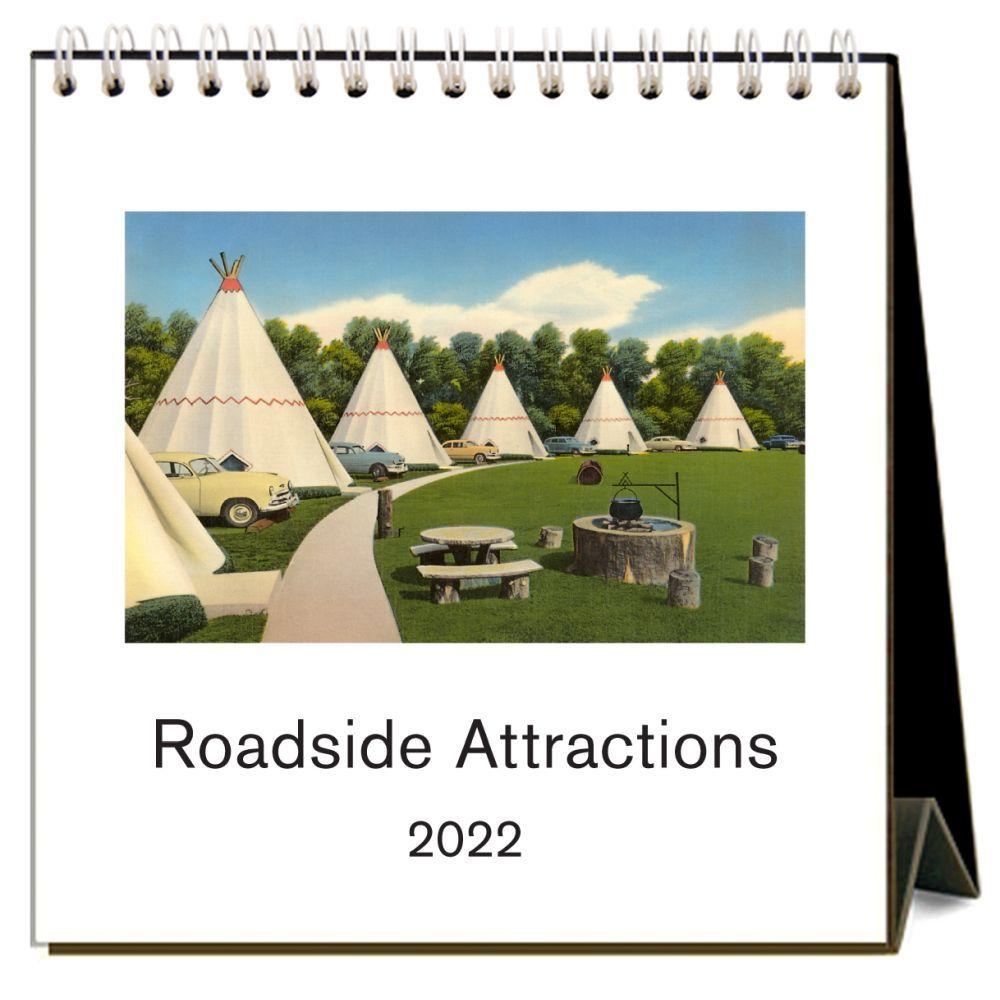 Roadside Attractions 2022 Desk Calendar