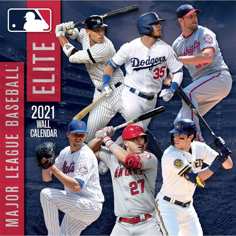 2021 MLB Elite Mini Wall Calendar