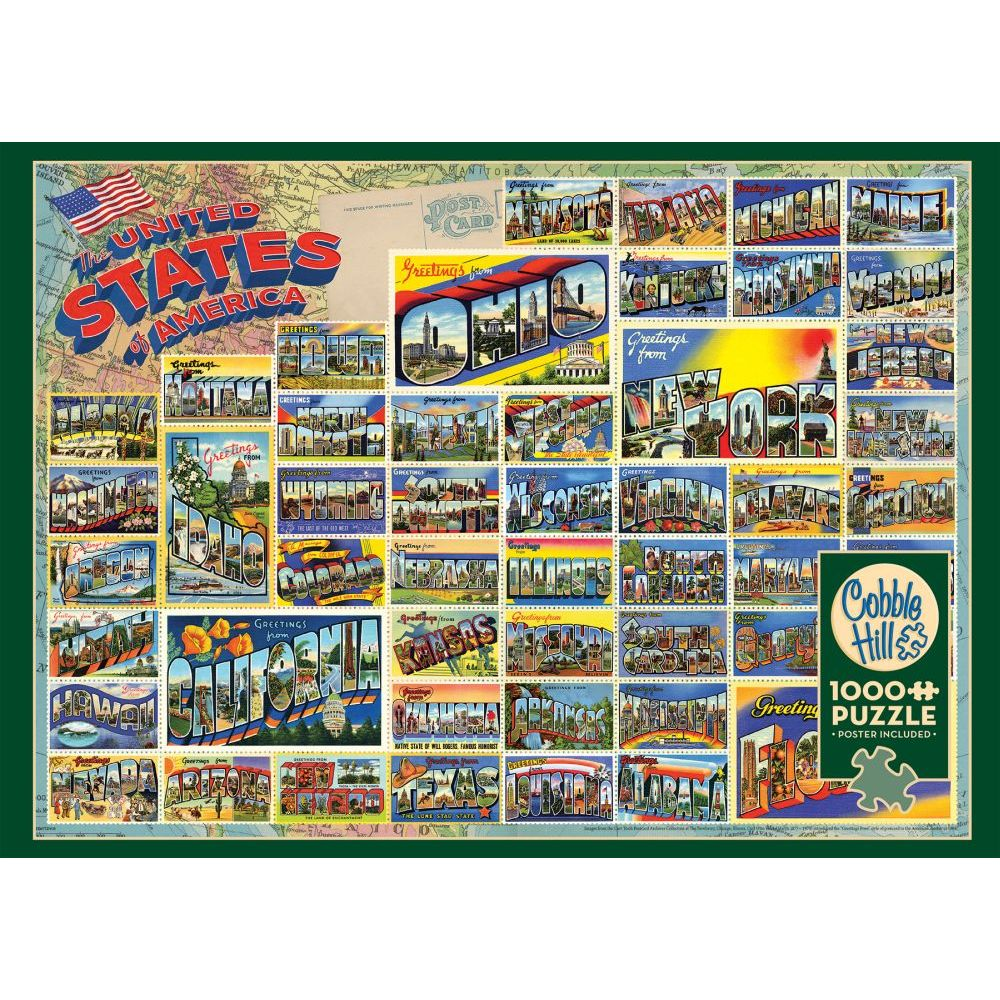 Best Vintage American Postcards 1000pc Puzzle You Can Buy