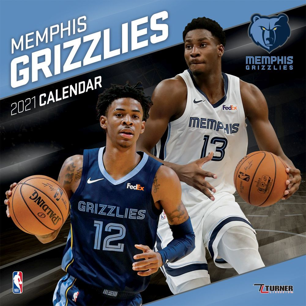 2021 Memphis Grizzlies Team Wall Calendar