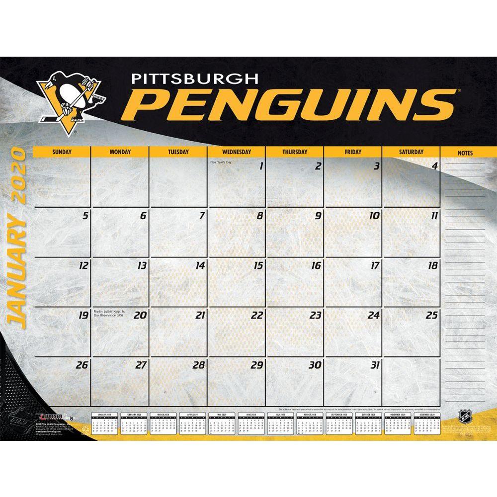 Pittsburgh Penguins 2021 Desk Pad