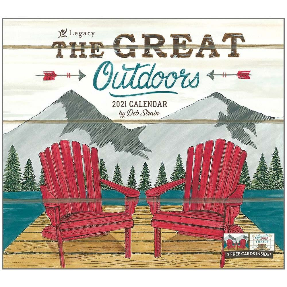 2021 Great Outdoors The Wall Calendar
