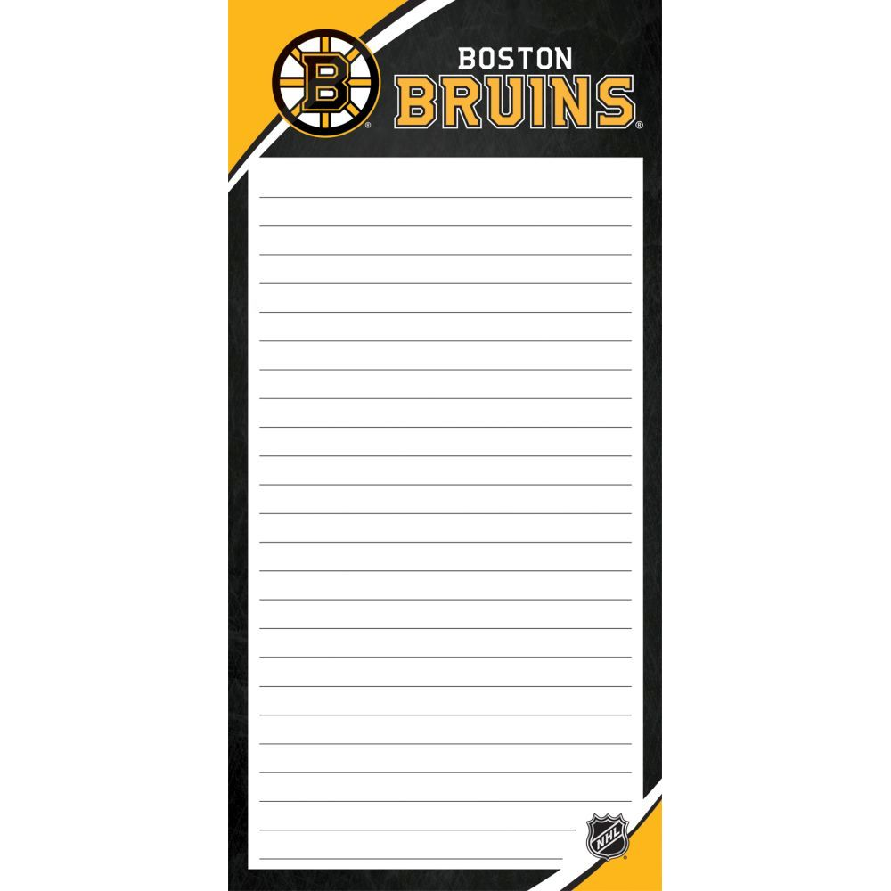 Nhl-Boston-Bruins-2pack-List-Pad