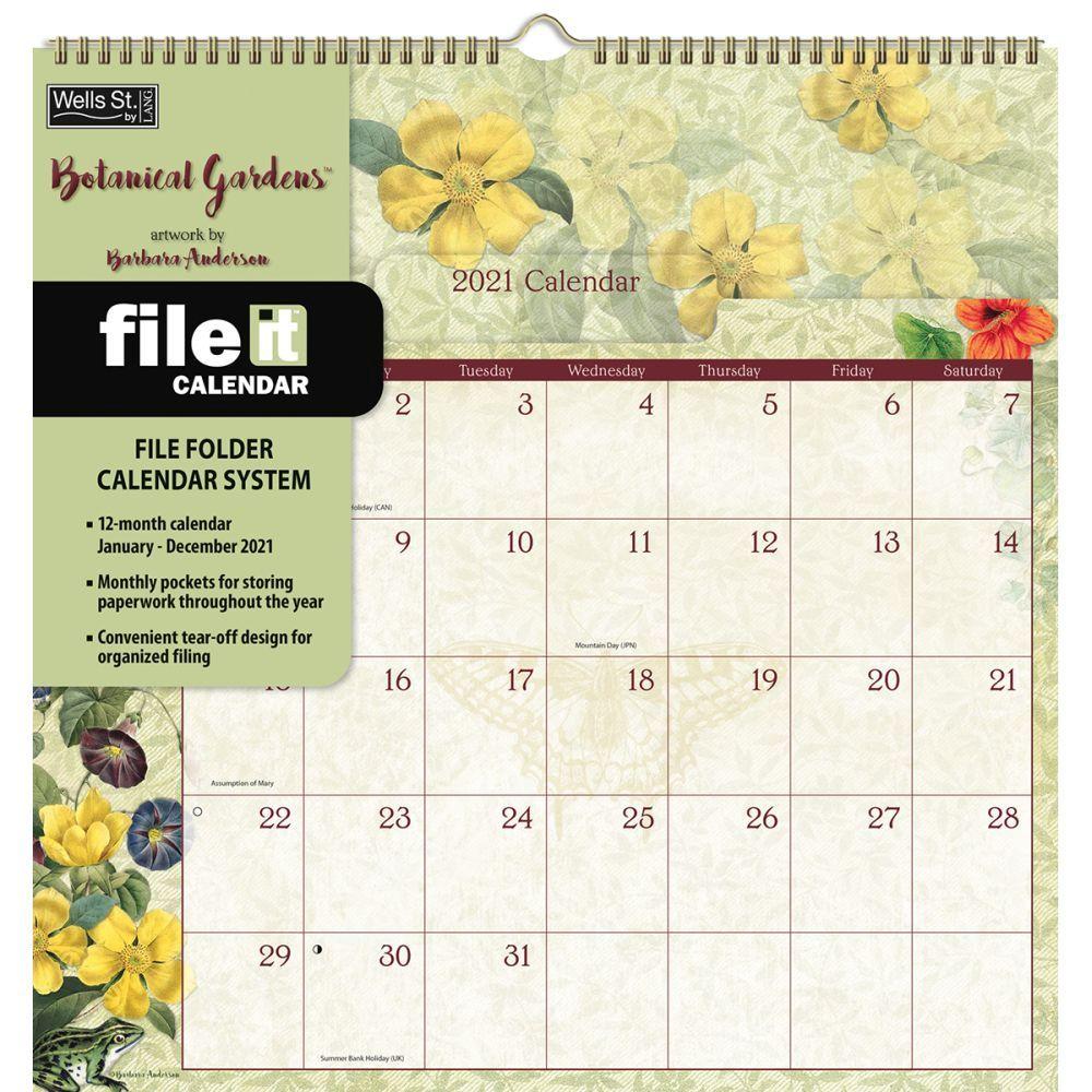 Botanical Gardens File It 2021 Wall Calendar