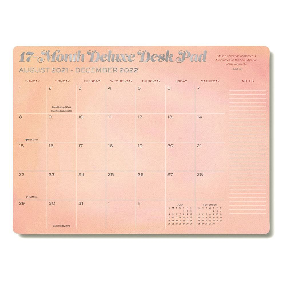 Mindfulness Deluxe High Note 2022 Desk Pad