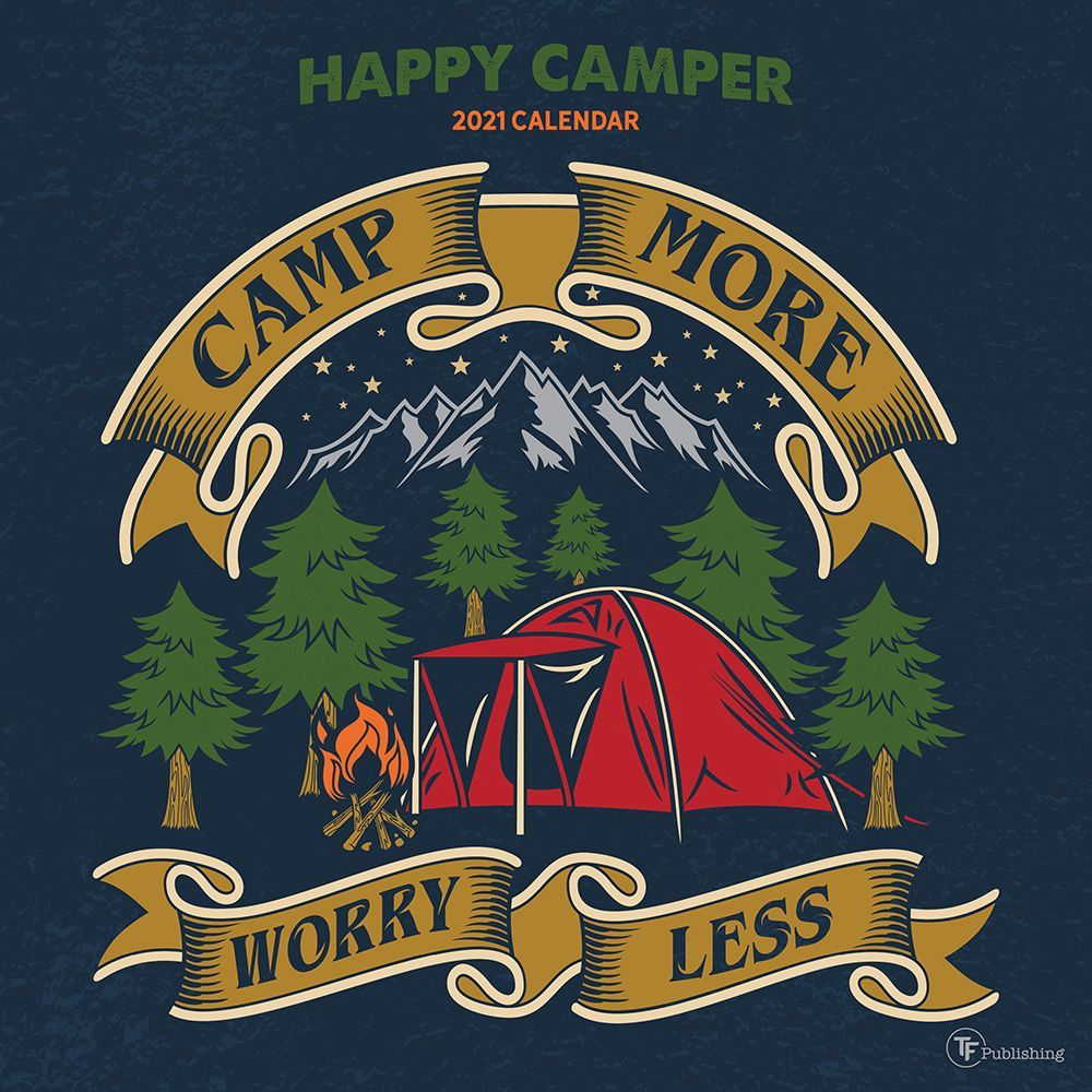 2021 Happy Camper Wall Calendar
