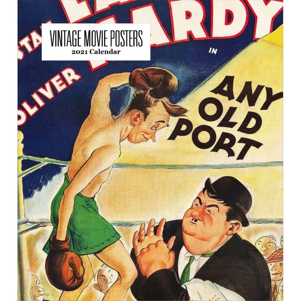 Vintage Movie Posters 2021 Easel Calendar