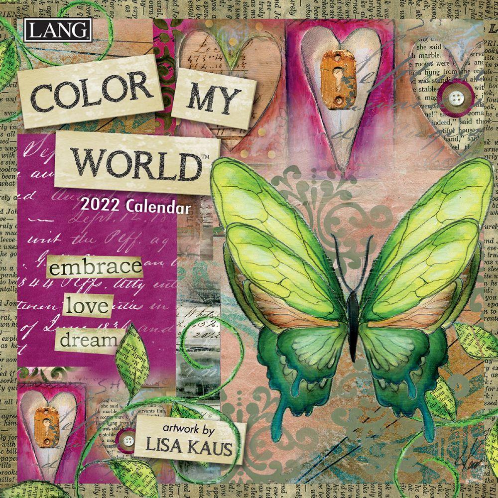 Color My World 2022 Mini Wall Calendar