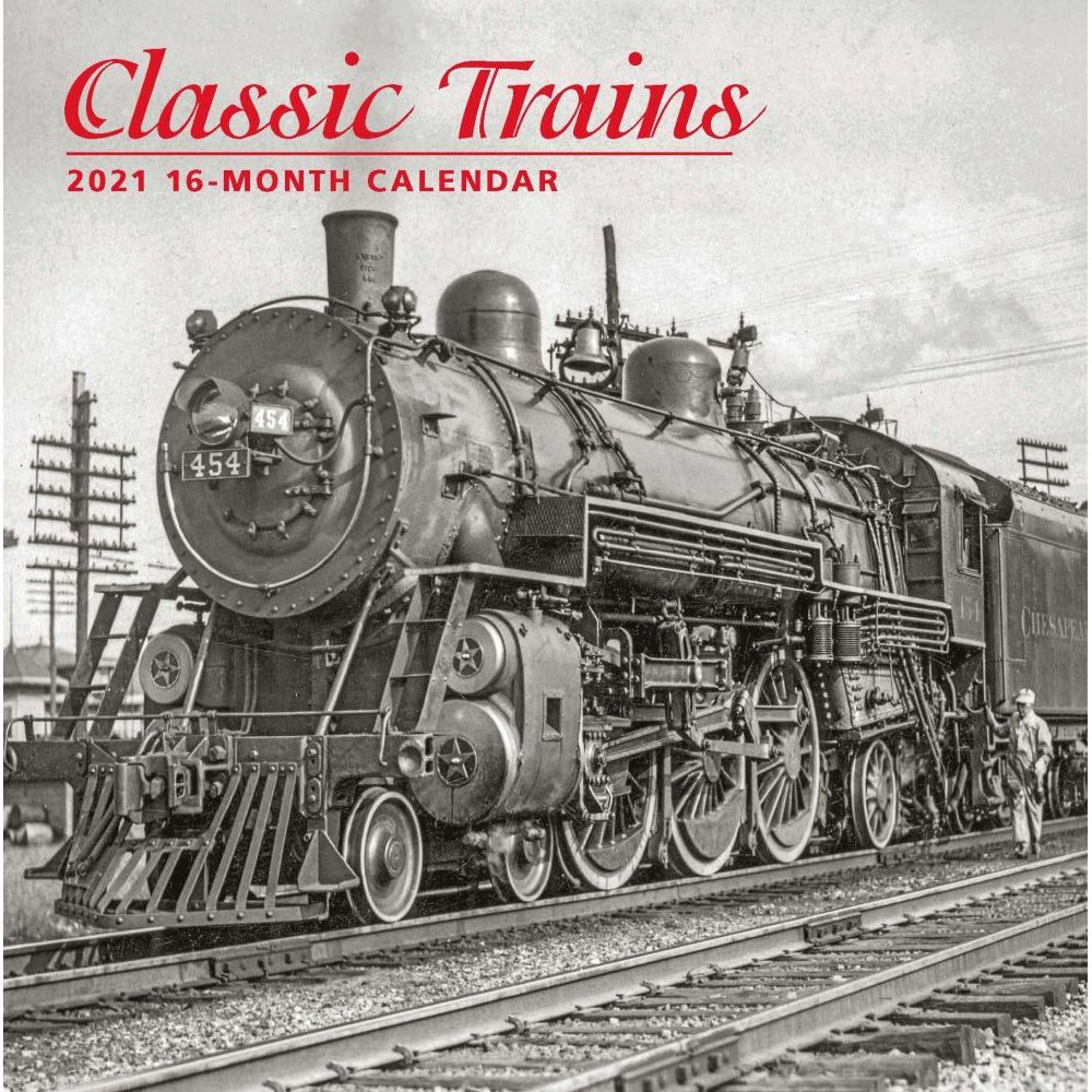 2021 Trains Classic Wall Calendar