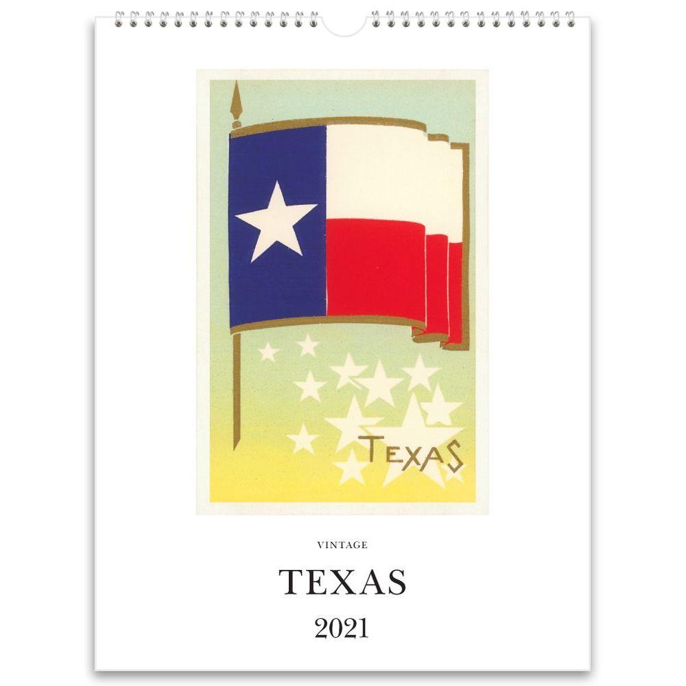 2021 Texas Nostalgic Poster Wall Calendar